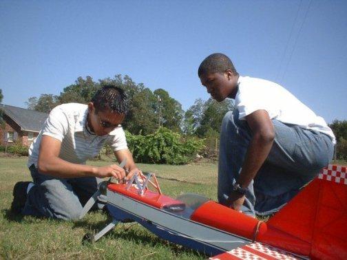 Model aviation with my good flying buddy Wally.