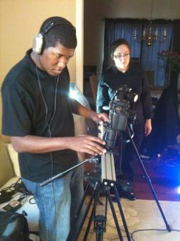 Serving as DP for a music video shoot with Rachel Jackson.