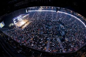 At my first full-time video job - the big Easter event at Gwinnett Arena (2007).